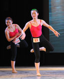 The basic skill of dance training Royalty Free Stock Image