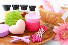 Basic skin care items Stock Photography