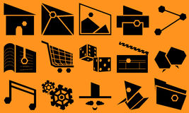 Basic Slant Icon Set Royalty Free Stock Images