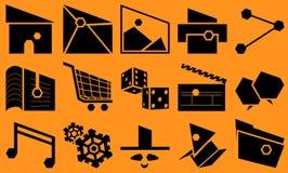 Basic Slant Icon Set Royalty Free Stock Images