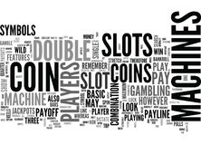 Basic Slots Features Strategies Word Cloud. BASIC SLOTS FEATURES STRATEGIES TEXT WORD CLOUD CONCEPT Royalty Free Stock Photos