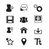 Basic Social Network icons Royalty Free Stock Photo
