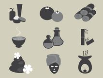 Basic Spa Icons Vector Set Stock Images