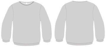 Basic Sweater template vector illustration Stock Image