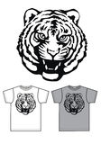 Basic t-shirt for men or boys tiger print Stock Photos