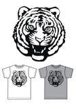 Basic t-shirt for men or boys tiger print Stock Photos