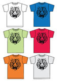 Basic t-shirt for men or boys tiger print Royalty Free Stock Photography