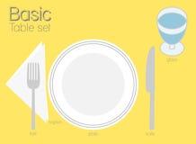 BASIC TABLE SETTING Royalty Free Stock Image