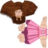Basic texture mapping. Just a VERY low poly texture mapping of a little girl Stock Photo