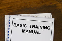 Basic training manual Royalty Free Stock Image