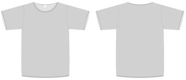 Basic unisex T-shirt template vector illustration Royalty Free Stock Image