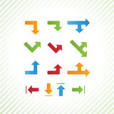 Basic vector arrows. Beveled vector buttons in modern design. Si Stock Image