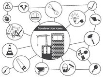 Basic Vector Construction Icons Royalty Free Stock Images