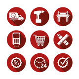 Basic vector simple shopping icons Stock Photo