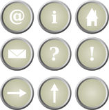 Basic web/homepage buttons Stock Image