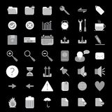 Basic web icon set Royalty Free Stock Photos