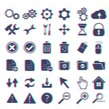Basic web icon set. Stereo effect icons Stock Images