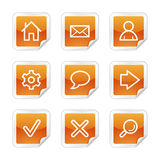 Basic web icons Royalty Free Stock Photography