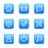 Basic web icons Stock Images
