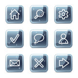 Basic web icons Stock Photo