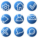 Basic web icons Royalty Free Stock Images