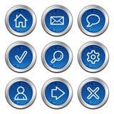Basic web icons Royalty Free Stock Photo
