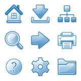 Basic web icons Royalty Free Stock Photography