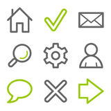 Basic web icons royalty free illustration