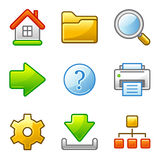 Basic web icons, alfa series Royalty Free Stock Photos
