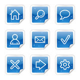Basic web icons, blue sticker series. Basic web icons, blue glossy sticker series royalty free illustration