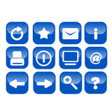 Basic web icons bold Royalty Free Stock Photo