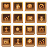 Basic web icons.  Brown series. Royalty Free Stock Image