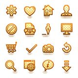 Basic web icons. Brown series. Stock Photography