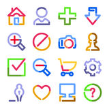 Basic web icons. Color contour series. Royalty Free Stock Photo