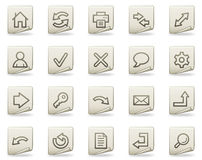 Basic web icons, document series Royalty Free Stock Images