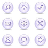 Basic web icons, glossy pearl series Royalty Free Stock Photography