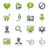 Basic Web Icons. Gray And Green Series. Stock Photography