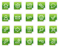 Basic web icons, green sticker series. Vector web icons, green sticker series vector illustration