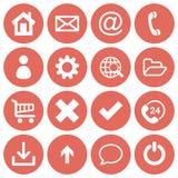 Basic web icons Royalty Free Stock Photos