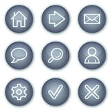 Basic web icons, mineral circle buttons series Royalty Free Stock Photography