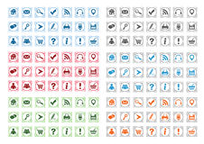 Basic web icons set #12. Basic web icons set isolated on a white background royalty free illustration