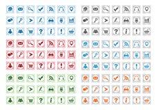 Basic web icons set #12. Basic web icons set isolated on a white background Royalty Free Illustration