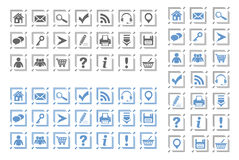 Basic web icons set #8 Stock Photography