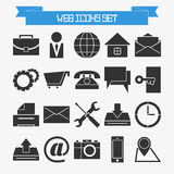 Basic web icons set Stock Photo