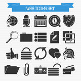 Basic web icons set Royalty Free Stock Photography