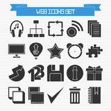 Basic web icons set Stock Image