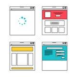 Basic website layout illustrations Stock Images