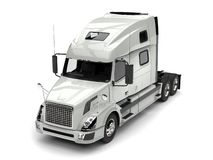 Basic white modern semi trailer truck - top down view stock illustration