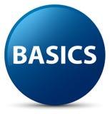 Basics blue round button. Basics isolated on blue round button abstract illustration Royalty Free Stock Photo