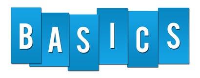 Basics Blue Stripes. Basics text written over blue background Royalty Free Stock Images